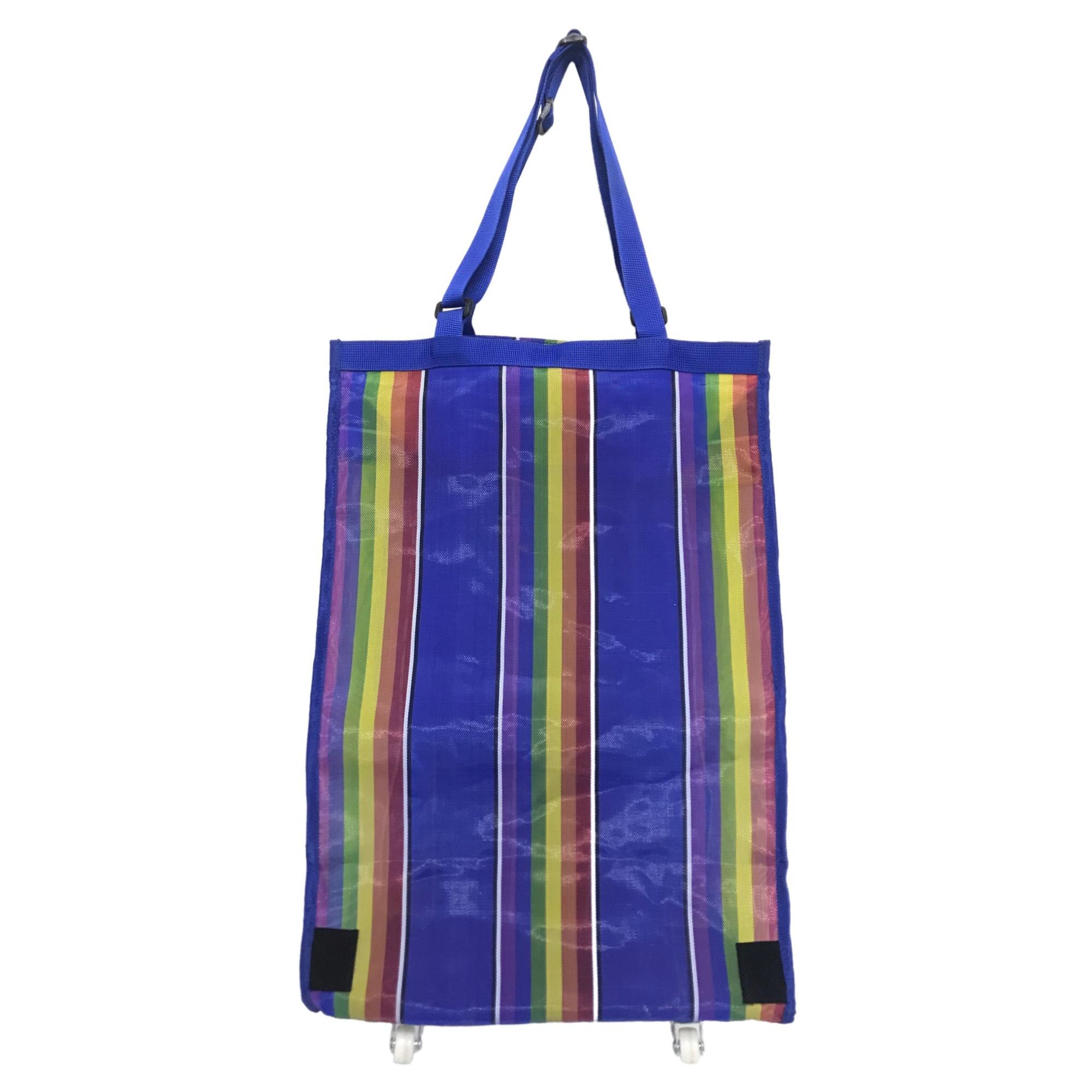 estremamente unico outlet in vendita grande selezione del 2019 Blue Rainbow Folding Shopping Bag Cart with Wheels – Vanzon ...