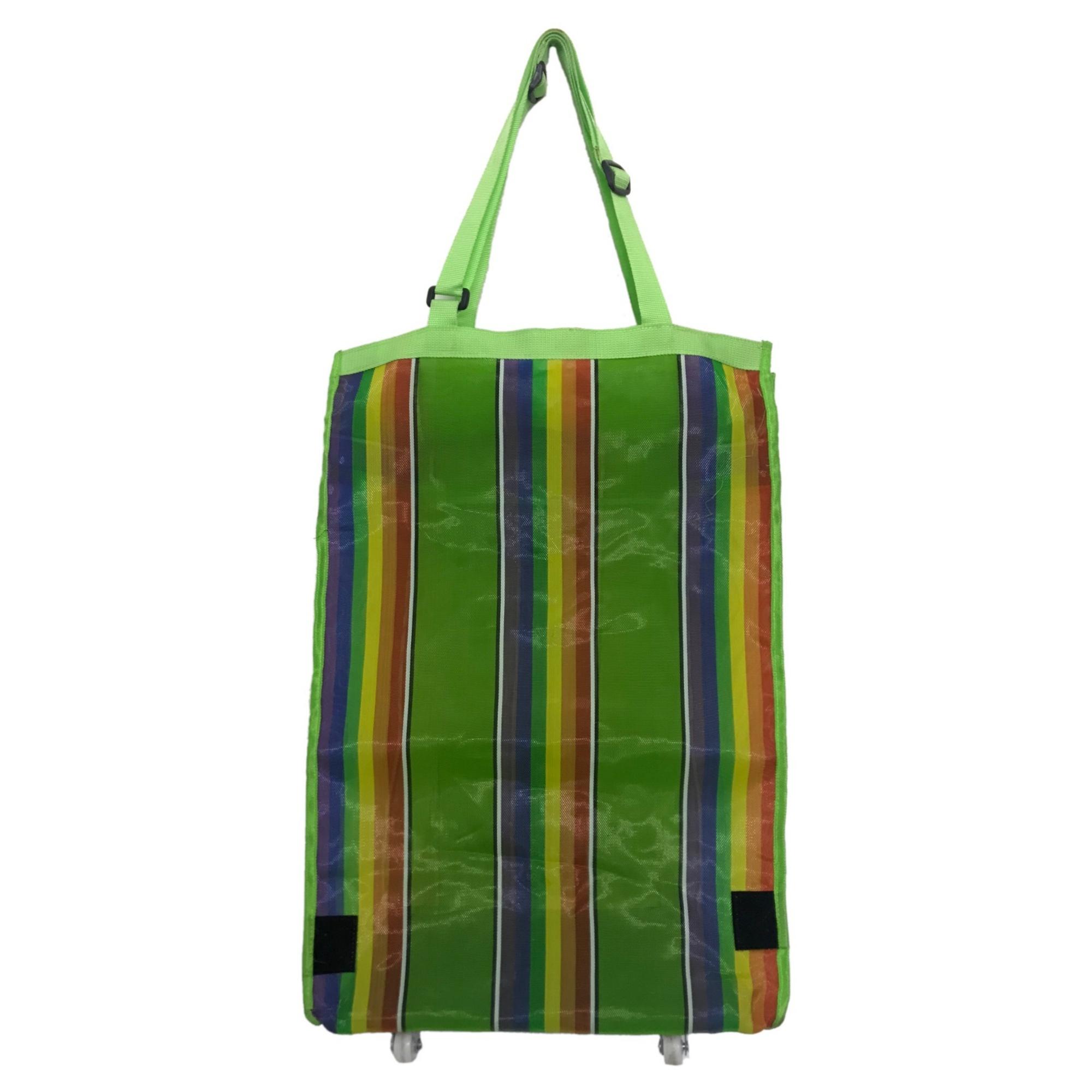 bene prezzi economici gamma completa di specifiche Green Rainbow Folding Shopping Bag Cart with Wheels – Vanzon ...